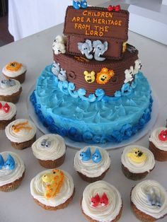 noah's ark baby shower cake - Google Search