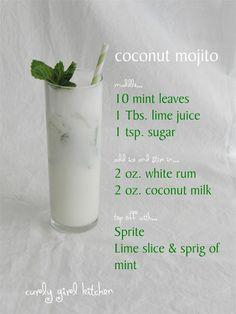 coconut  lime mojito