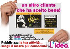 grafica da noi realizzata per La Dolce Vita Café -Rossano- CS
