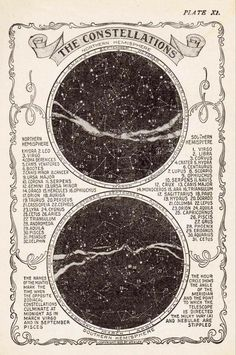 Vintage Star Chart, Constellation Map, Vintage Art Print, Star Map Vintage Print, Constellation Prin The Vintage Prints, Map Vintage, Vintage Star, Vintage London, Vintage Wall Art, Vintage Music, Vintage Ideas, Etsy Vintage, Astronomy Facts