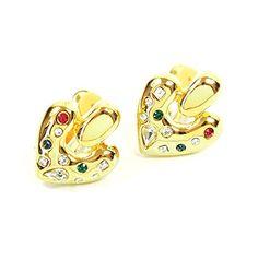 streitstones-Metall-Ohrclips Herz vergoldet mit Swarovski Lagerauflösung bis zu 50 % Rabatt streitstones http://www.amazon.de/dp/B00TU5OBDI/ref=cm_sw_r_pi_dp_Qnh6ub1QB5S4T, streitstones, Ohrring, Ohrringe, earring, earrings, Ohrclips, earclips, bling, silver, gold, silber, Schmuck, jewelry, swarovski