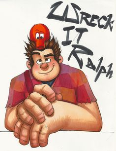 Wreck-It-Ralph by Madelonetjj.deviantart.com - Ralph and Q*Bert