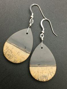 Natural Picasso Jasper Earrings Gemstone by AngelWearDesigns2013