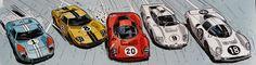Ford GT40, Ferrari 330 P4, Chaparral 2D, Ferrari 365 P (Christian Papazoglakis, Robert Paquet)