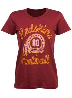 Ladies Junk Food Redskins 80th Anniversary T-Shirt Shirts ff06ae1c1