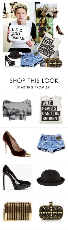 """""""Improbable Events, Dream Endings"""" by aciellelacie ❤ liked on Polyvore featuring American Apparel, Dune, Yves Saint Laurent, ASOS, Stark and Alexander McQueen"""