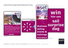 Ontwerp promotiecampagne Bset zakelijk zeilen