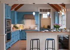 contemporary kitchen with a coastal/country feel
