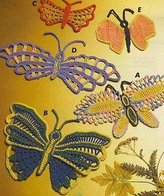 MARIPOSAS - Eili Einama - Álbuns da web do Picasa... Butterfly crochet diagrams!...64  pages!!