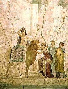 Europa in a fresco at Pompei.