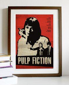 Pulp Fiction Vintage Movie Poster A3 van Posterinspired op Etsy, $18.00