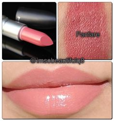 MAC Fanfare is a pink/nude that is more pink than nude. It is very similar to NYX Tea Rose.