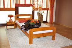 ŁÓŻKO drewniane sosnowe KLARA 90x200 OLCHA producent ! DREWNIANE MAXI-DREW producent mebli z litego drewna :: łóżka sosnowe :: stoły :: materace :: szafy :: komody