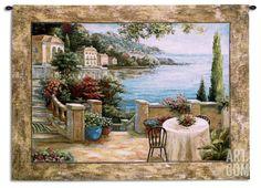 Mediterranean Terrace I Wall Tapestry by Vivian Flasch at Art.com