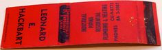 Leonard E. Hackbart Industrial Piping #matchbook - To order your business' own branded #matchbooks or #matchboxes GoTo: www.GetMatches.com or CALL 800.605.7331 to get the process started TODAY!