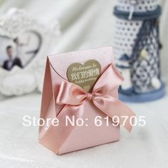 FREE SHIPPING 100pcs/lot Red beige Pink Elegant candy Bag  Favors box Wedding favor Party candy  box Anniversary gifts box $75.00