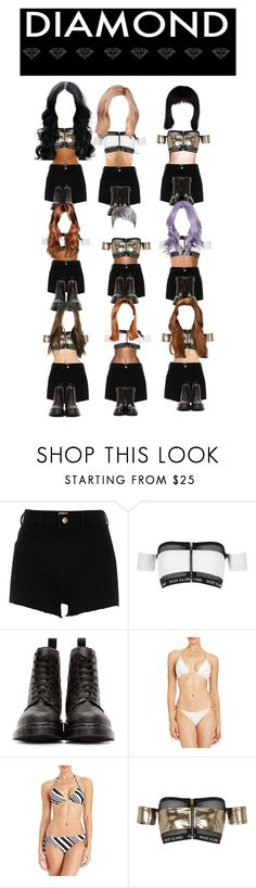 """""""Who's Next 2 : Diamond Project Team#1 first dance performance Intro + 2NE1 Comeback home"""" by ygentertaiment ❤ liked on Polyvore featuring River Island, Dr. Martens, 2b bebe and Moncler"""
