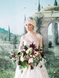 Cinderella. The Audrey gown by @Watterswtoo. Photo @rachelmay | Styling @Amoreeventco | Dress @Watterswtoo | Flowers @floraldesignva | Calligraphy @poppyandscooter | Venue @keswickhall | Breckenridge Carriage | Model Nina Ninka Baprawska | Daniel's Doves | Cake by Maliha Creations | Glassware & Linens by Festive Fare Charlottesville | Plates, Chargers, Flatware by Arte Italica | HMUA @lorakelleymua | Headpiece & Veil @mignonne | Coordination @jconlogue | Shoes Christian Louboutin