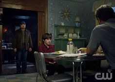 """""""Death's Door"""" - (L-R): Jim Beaver as Bobby Singer, Collin MacKechnie as Little Bobby, and Edward Foy as Bobby's Father"""