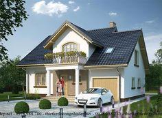 Mẫu thiết kế nhà cấp 4 có gác lửng đẹp mái thái 11x13m