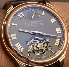 Chopard L.U.C Tourbillon Qualite Fleurier Watch With Fairmined Gold Hands On hands on