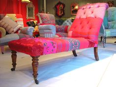 Patchwork Chair/Couch/Ottoman
