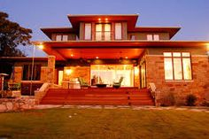 Modern Craftsman, Craftsman Houses, Porch Steps, Mansions, House Styles, Garden, Home Decor, Front Porch Steps, Mansion Houses