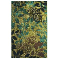 5' x 7' Color Pretty Floral Area Rug Flower Artistic Nature Transitional