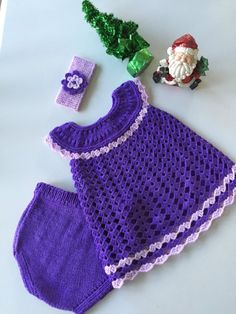 Baby girl Christmas by TwoNeedlesOneMagic on Etsy