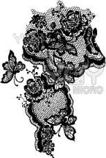 Lace tattoos. Less butterflies would be better