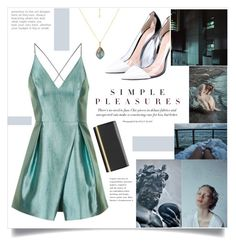 """Simple Pleasures"" by meleuterio ❤ liked on Polyvore featuring Gianvito Rossi, Topshop, Auren, Ted Baker and statementnecklaces"