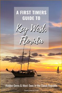 The First Timers Guide to has what you need if it's your first trip or a cruise excursion. There's hidden gems and other fun things to do in Key West, Florida Keys, Visit Florida, Florida Travel, Key West Florida, Florida Usa, Usa Roadtrip, Usa Travel Guide, Travel Usa, Travel Tips