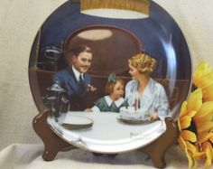 Vintage Norman Rockwell's Light Campaign Series Collectors Plate,Bradex,Knowles Fine China,Small Girls Third Birthday,#VCP8002 by ckdesignsforyou. Explore more products on http://ckdesignsforyou.etsy.com