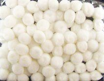 acriclic pom pom are used in crafts and school and home ,but it should be keept in mind it can be chooking hazard for the children under 3 and should not be given to them.