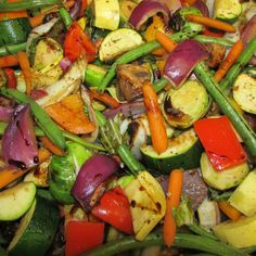 Roasted Vegetables in an Aged Cherry Balsamic by Back Door Catering in Quincy, Ca