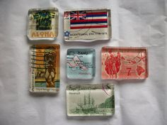 Hey, I found this really awesome Etsy listing at https://www.etsy.com/listing/248326836/6-upcycled-us-postage-stamp-glass