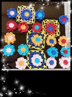 Spread the love Crochet Flower Patterns, Crochet Flowers, Aktiv, Community, Blanket, Handarbeit, Pattern Flower, Wool, Crocheted Flowers