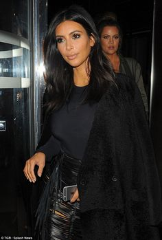 The reality TV stars, Kim Kardashian West and Khloe Kardashian,  looked effortlessly chic as they headed out in London