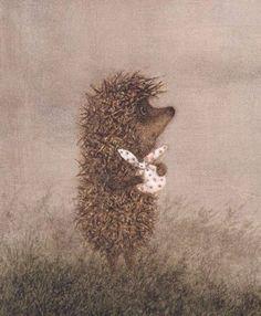 """Francesca Yarbusova, illustration for """"Hedgehog in the Fog"""". Art And Illustration, Illustrations Posters, Hedgehog Illustration, Hedgehog Day, Lapin Art, Inspiration Artistique, Whimsical Art, Book Art, Illustrator"""