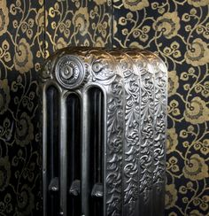 Very rare ornate radiator 'Toronto' pat'd on 16th April 1887 shown with a hand polished finish. This radiator has been fully restored and is ready to go. Speak to us about matching radiators and complementary styles. We have a selection of 'ready to go' radiators at our showroom in Gloucestershire and at our sister company 'The Old Radiator Company' in Kent. Old Radiators, Cast Iron Radiators, Furniture Decor, Showroom, Toronto, Restoration, Old Things, It Is Finished