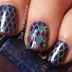 rainbow fish nail art