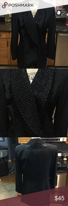 NWT gorgeous embellished blazer Suze 12, beautiful beaded blazer byDella Roufogali Niteline Jackets & Coats Blazers
