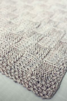 Basket Weave Baby Blanket by Katrine Hammer