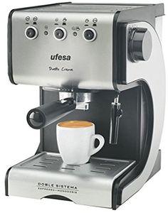 Ufesa CE7141 - Máquina de café, 1050 W, capacidad de 1,5 l, color plata y negro