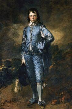"""The Blue Boy"" Thomas Gainsborough oil on canvas 1770"
