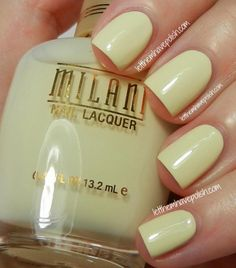 Almond Bliss by Milani Nail Polish Art, Nail Polish Designs, Nail Polish Colors, Nail Art Designs, Sexy Nails, Love Nails, How To Do Nails, Pretty Nail Colors, Pretty Nails