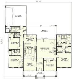 Home Sweet Home - 5927ND | Country, Southern, 1st Floor Master Suite, CAD Available, PDF, Split Bedrooms, Corner Lot | Architectural Designs