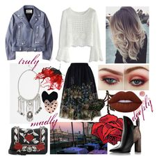 """""""#904"""" by splendoraviolet ❤ liked on Polyvore featuring Chicwish, Acne Studios, BP., Miu Miu, Ted Baker and Lime Crime"""