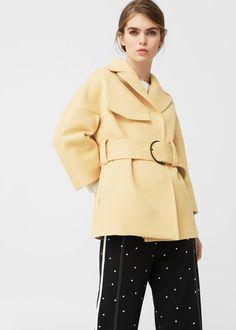 Maxi belt coat   MANGO