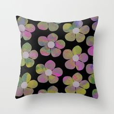 Floral pattern II Throw Pillow by Georgiana Paraschiv